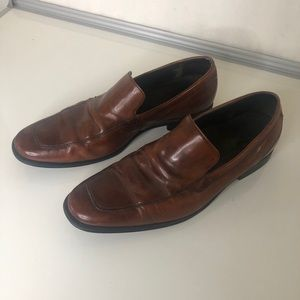 Cole Haan Nike Air Brown Leather Loafers
